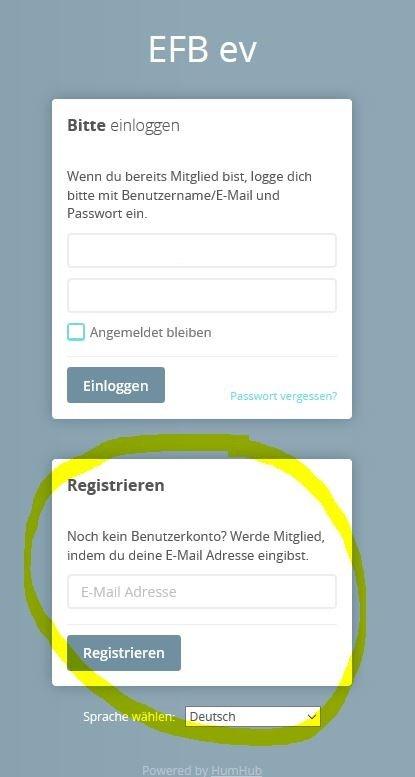 HH1 Registrierung